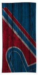 Quebec Nordiques Wood Fence Beach Towel