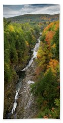 Quechee Gorge Fall Vt Beach Towel