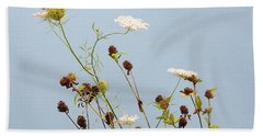 Beach Towel featuring the photograph Queen Anne's Lace And Dried Clovers by Lise Winne