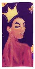 Queen Bee  Beach Towel by Miriam Moran