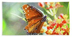 Queen Butterfly Beach Sheet by Inspirational Photo Creations Audrey Woods