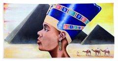 Queen Nefertiti Beach Towel