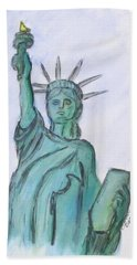 Queen Of Liberty Beach Towel by Clyde J Kell