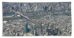 Queens And Manhattan Beach Towel by Suhas Tavkar