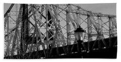 Beach Sheet featuring the photograph Queensboro Bridge  by John Harding