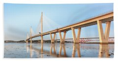 Beach Sheet featuring the photograph Queensferry Crossing 5 by Grant Glendinning