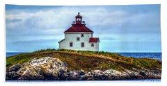 Queensport Lighthouse Beach Sheet by Ken Morris