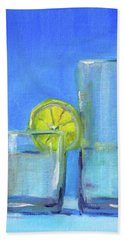 Beach Towel featuring the painting Quench by Nancy Merkle