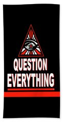 Question Everything Beach Towel