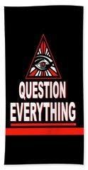Question Everything Beach Sheet