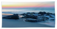 Quiet Beach Haven Morning Beach Towel