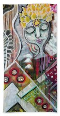 Beach Towel featuring the mixed media Quiet Bliss by Mimulux patricia No