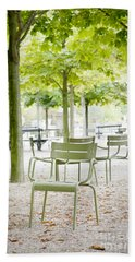 Quiet Moment At Jardin Luxembourg Beach Towel