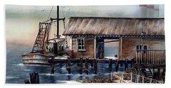 Quiet Pacific Dockside Beach Sheet