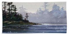 Quiet Shore Beach Sheet by James Williamson