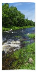 Quill Pond Brook Near Rangeley Maine  -70748 Beach Towel