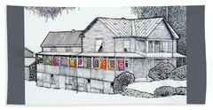 Quilts On Porch Beach Towel