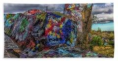 Quincy Quarries Graffiti Beach Sheet