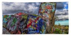 Quincy Quarries Graffiti Beach Sheet by Brian MacLean