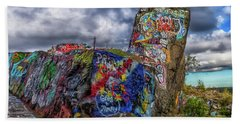Quincy Quarries Graffiti Beach Towel