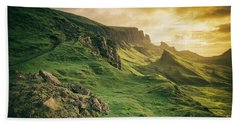 Quiraing Landscape 1 Beach Towel
