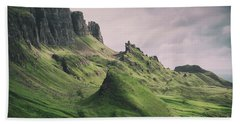 Quiraing Landscape 3 Beach Towel