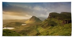 Quiraing Landscape 5 Beach Towel
