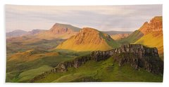 Quiraing Panorama Beach Towel