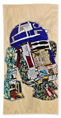 R2-d2 Star Wars Afrofuturist Collection Beach Towel by Apanaki Temitayo M