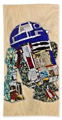 R2-d2 Star Wars Afrofuturist Collection Beach Towel