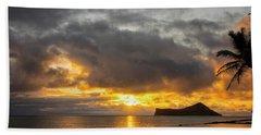 Rabbit Island Sunrise - Oahu Hawaii Beach Sheet by Brian Harig