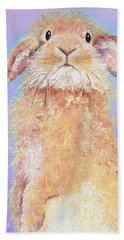 Rabbit Painting - Babu Beach Towel