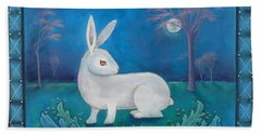 Rabbit Secrets Beach Sheet by Terry Webb Harshman