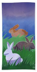 Rabbits Rabbits Rabbits Beach Towel