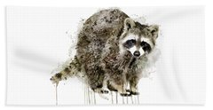Raccoon Beach Towel by Marian Voicu