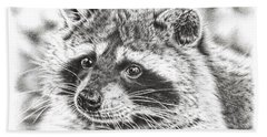 Raccoon Beach Towel