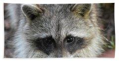 Raccoon's Gorgeous Face Beach Sheet