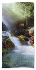 Beach Towel featuring the photograph Race Brook Falls 2017 by Bill Wakeley
