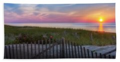 Beach Towel featuring the photograph Race Point Sunset 2015 by Bill Wakeley