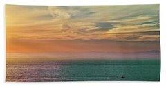 Racing The Sunrise Beach Towel