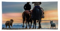 Racing To The Sun Wild West Photography Art By Kaylyn Franks Beach Towel