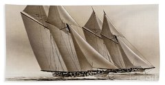 Racing Yachts Beach Towel by James Williamson
