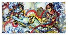 Radha Krishna - Flute - Love Beach Towel