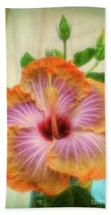Radiant Hibiscus Beach Sheet