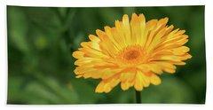Radiant Summer Flower Soaking It Up Beach Towel