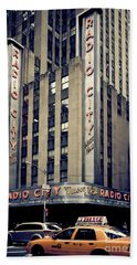 Radio City Beach Towel