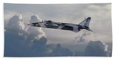 Beach Sheet featuring the photograph Raf Jaguar Gr1 by Pat Speirs