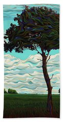 Raging Sky Po-e-tree Beach Towel