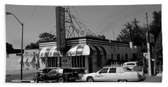 Beach Sheet featuring the photograph Raifords Disco Memphis A Bw by Mark Czerniec