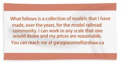 Rail Models By Gary Giacomelli Beach Sheet